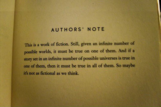 Brilliant author's note…