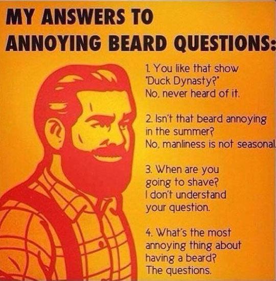 Annoying beard questions…