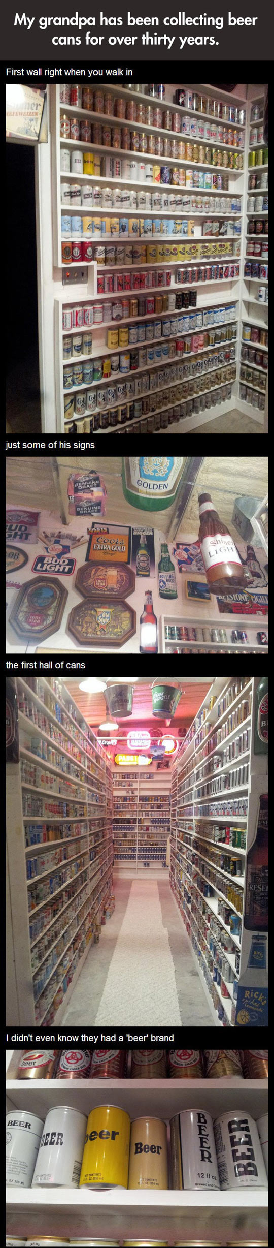 Epic beer cans collection...