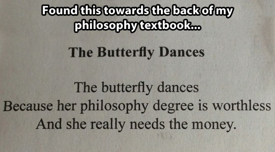 The butterfly dances…