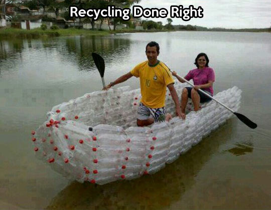 Reduce, reuse, make a boat…