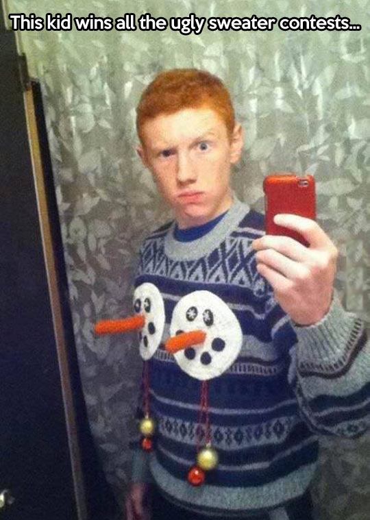Ugly sweater win…