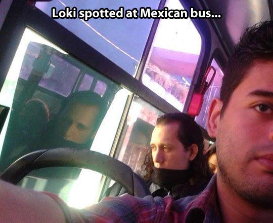 funny-bus-Tom-Hiddlestone-Loki-disguise