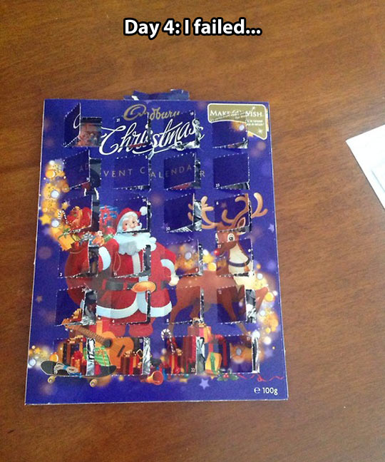 Chocolate advent calendar…