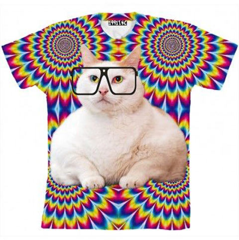 funny-cat-hipster-shirt-glasses