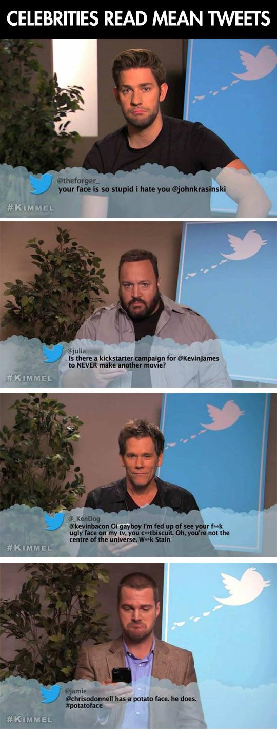 Celebrities read mean tweets...