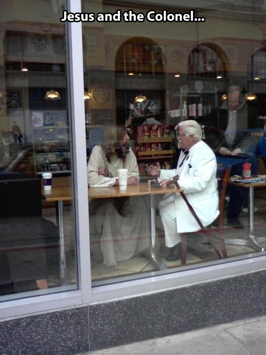 funny-coffee-shop-Jesus-Colonel-KFC