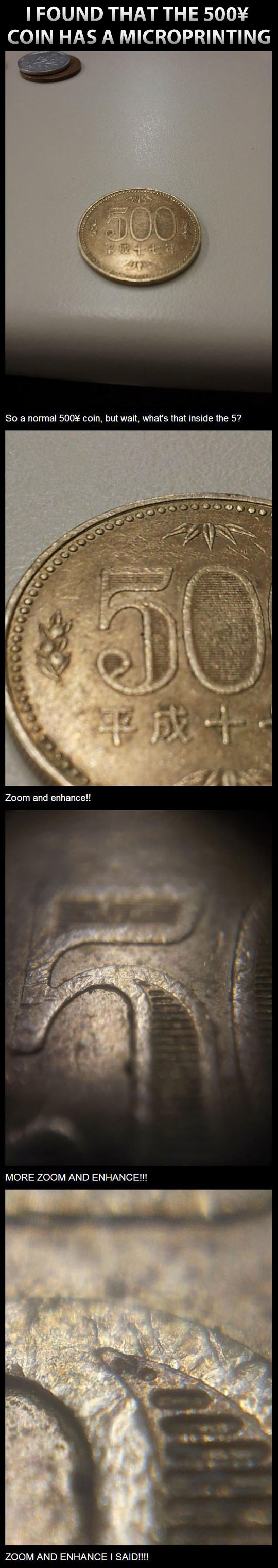 Microprinted coin...