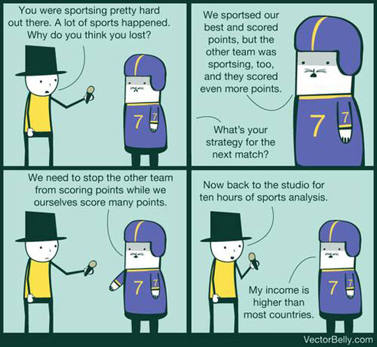 Every sports interview ever…