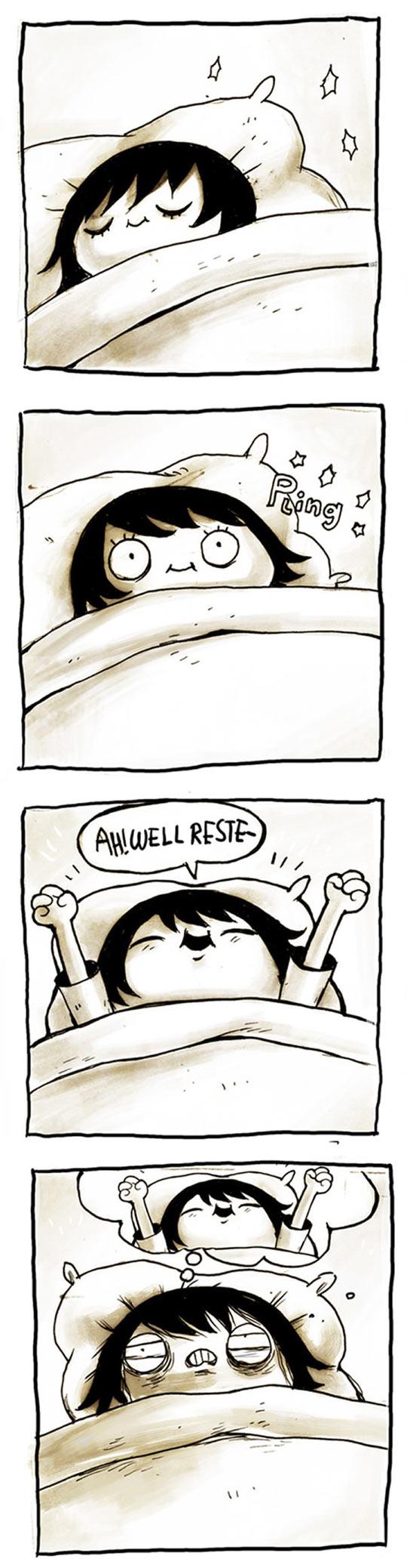 The worst way to wake up...