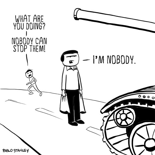 Nobody can…
