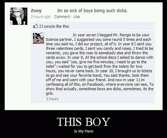 He's a hero…