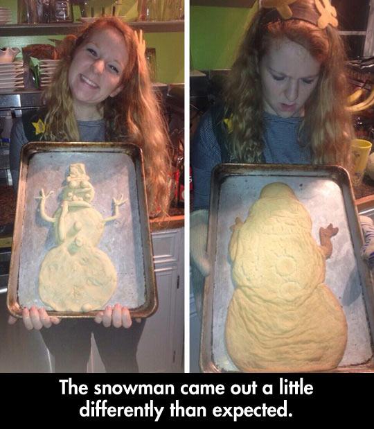 A little different snowman…