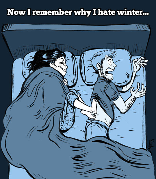 Why I dislike winter…