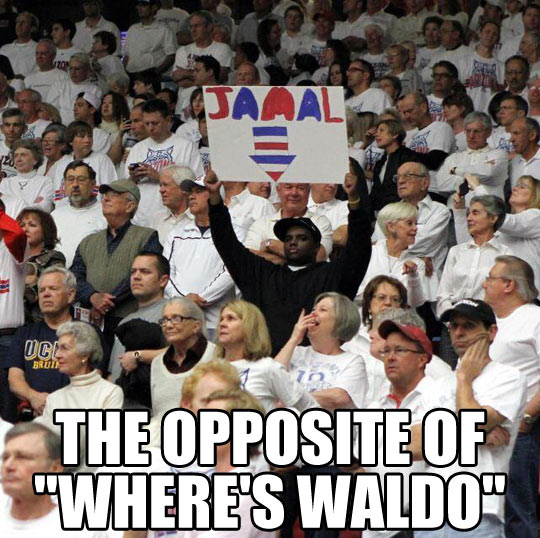 What's the opposite of Where's Waldo?