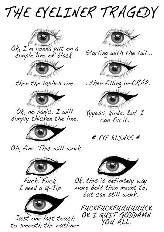 the eyeliner tragedy u2026