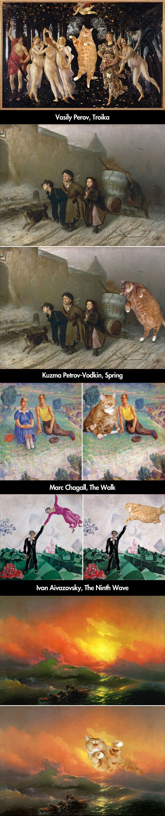 funny-famous-paintings-cats-Spring