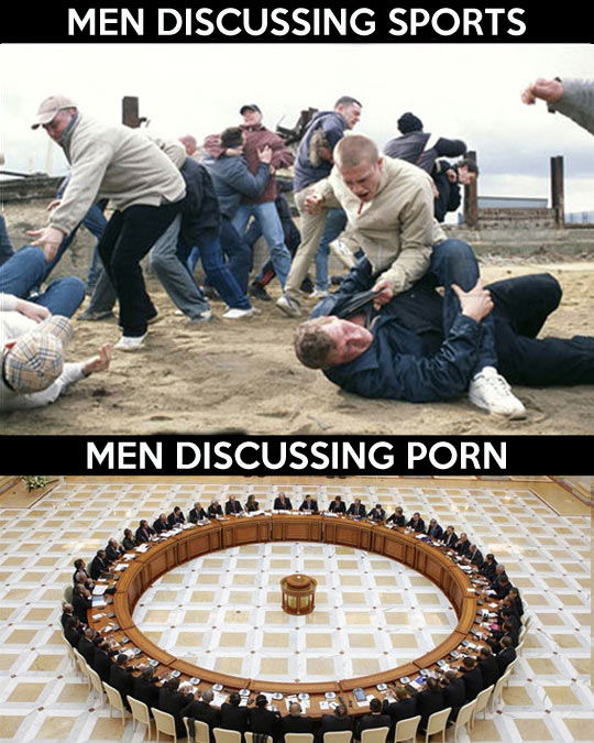 When men discuss…