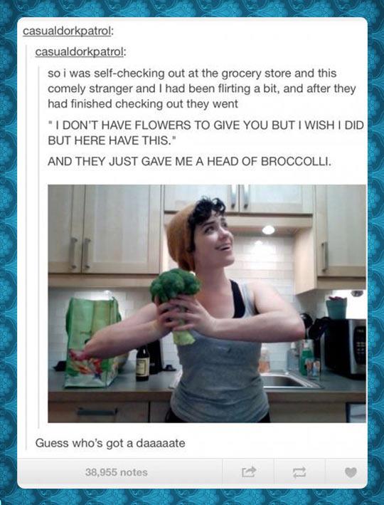 funny-flirting-broccoli-flowers-stranger