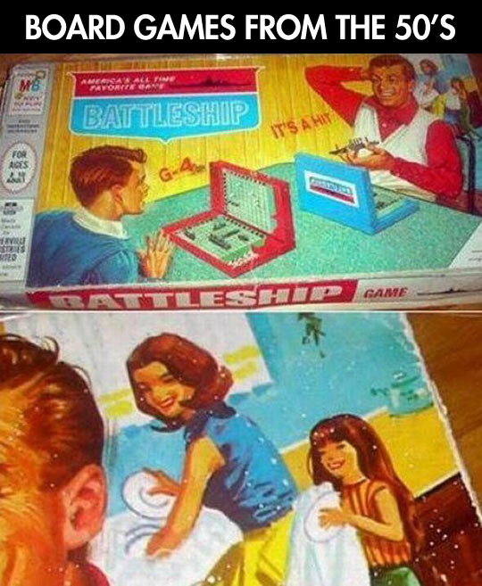 Board games in the old days…