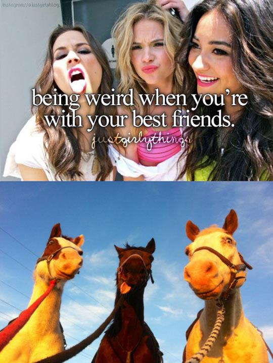 Being weird with friends…
