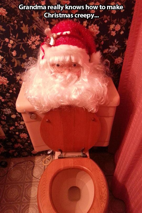 How to make Christmas creepy…