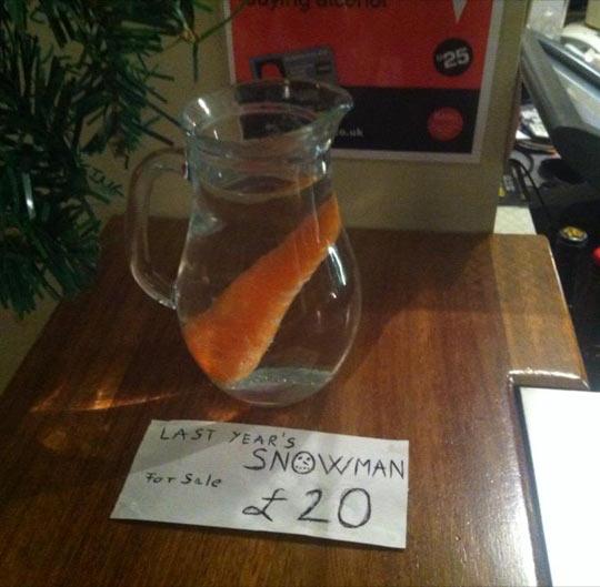 Last year's snowman…