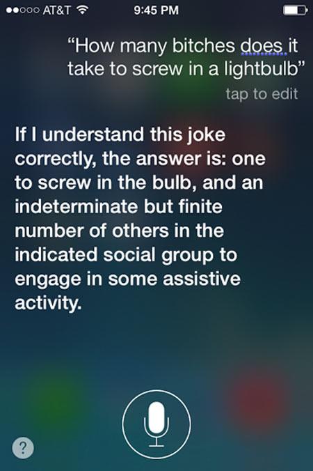 Good answer Siri…