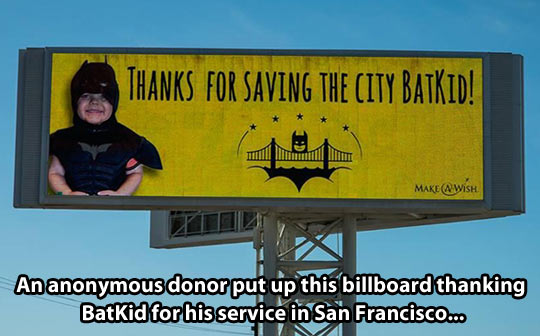 Thank you Batkid…