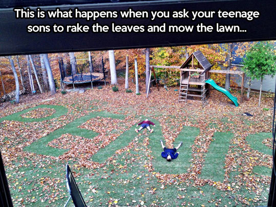 funny-lawn-leaves-teenagers-mowing