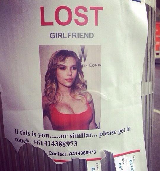 Lost girlfriend…