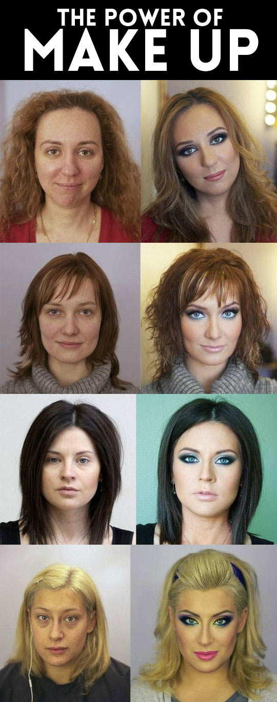 The great power of makeup...