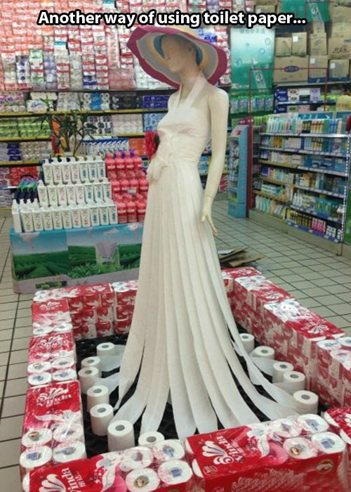 Toilet paper dress…