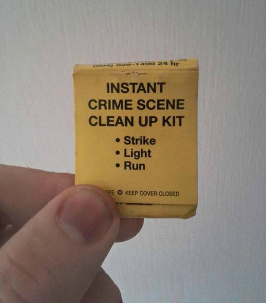 funny-matches-crime-cleaner-kit