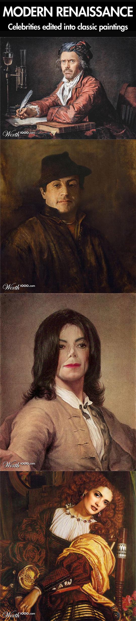 Modern Renaissance celebrities...