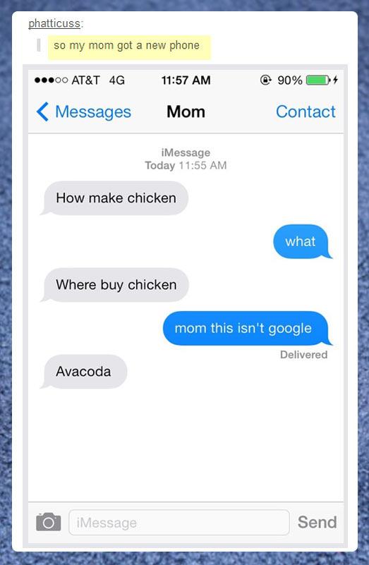 My mom got a new phone…