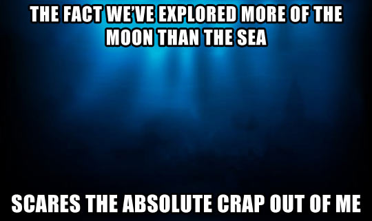 We've explored about 5% of the sea…