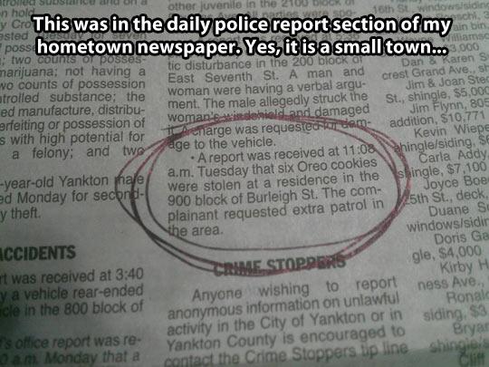 funny-newspaper-Oreo-cookies-stolen-police