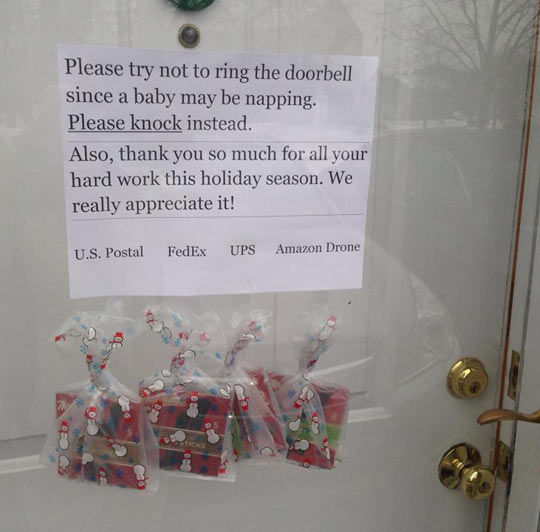 For all possible deliveries this Christmas…