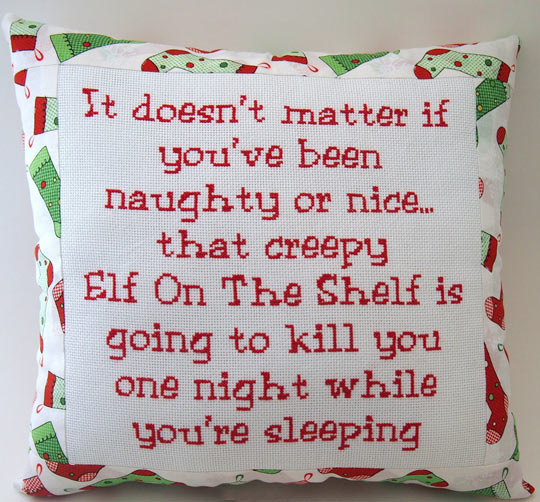 That creepy Elf on the Shelf…