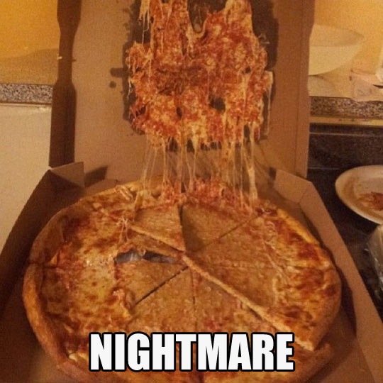 The reason those little pizza tables exist…