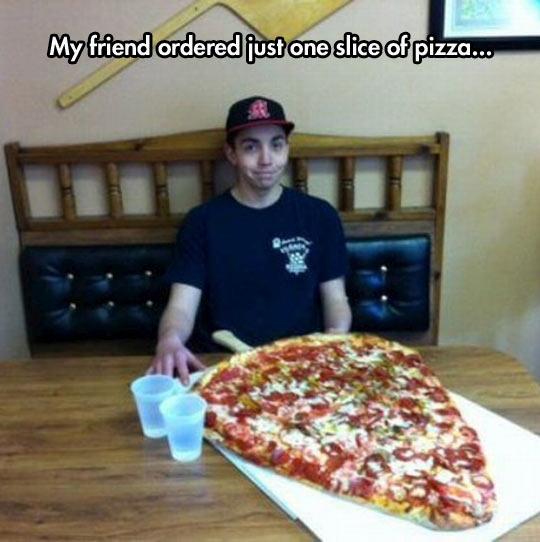 Just one slice…
