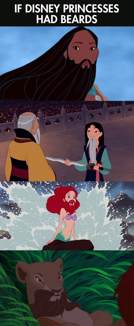 Disney princesses with a new look...
