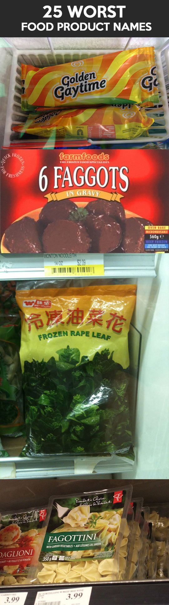 The worst food product names...