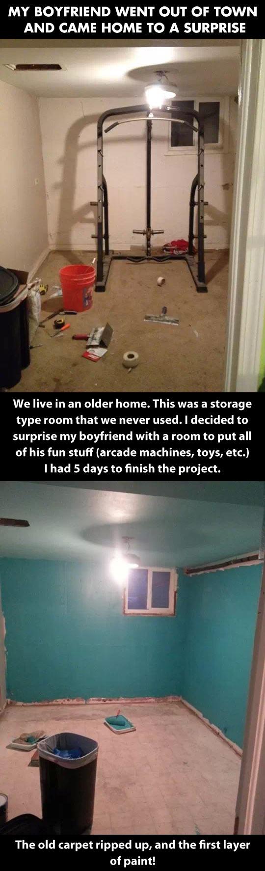 Surprise room...