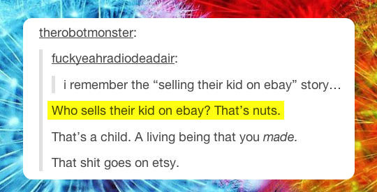 Selling your child…