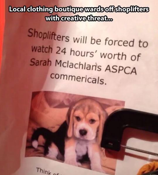 Creative threat…