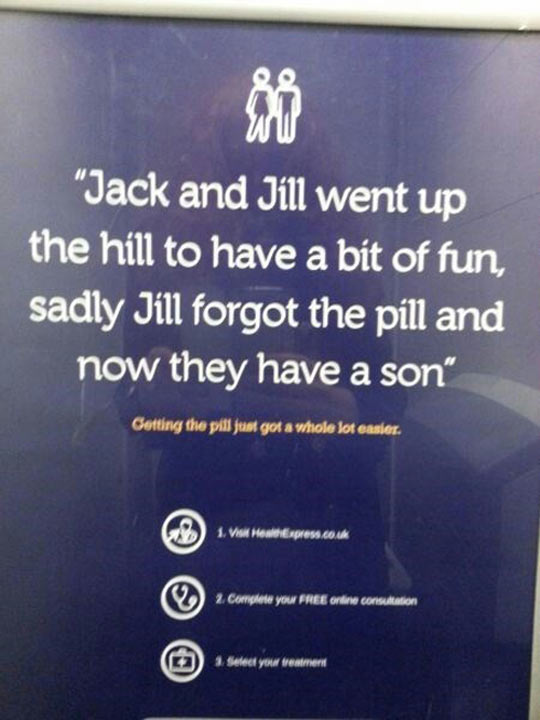 Don't be like Jack and Jill…