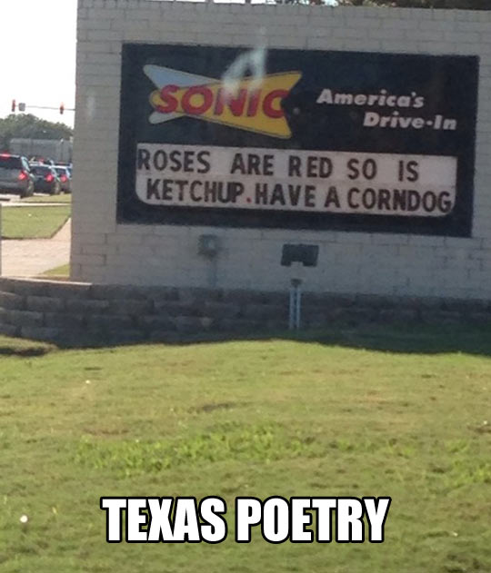 Poetry in Texas…