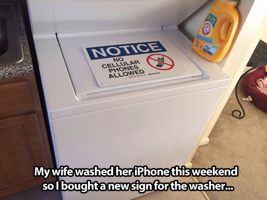 New sign for the washer…
